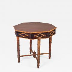 Antique Faux Bamboo Center Table - 1198961