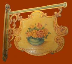 Antique Folk Art Florist Sign - 1392499