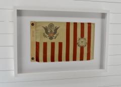 Antique Framed Wool Coast Guard Flag - 1713889