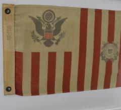 Antique Framed Wool Coast Guard Flag - 1713890