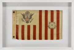 Antique Framed Wool Coast Guard Flag - 1716384