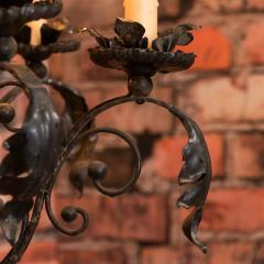 Antique French 8 light Black Iron Chandelier - 933624