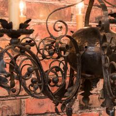 Antique French 8 light Black Iron Chandelier - 933627