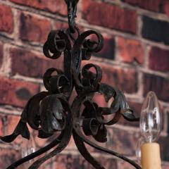 Antique French 8 light Black Iron Chandelier - 962100
