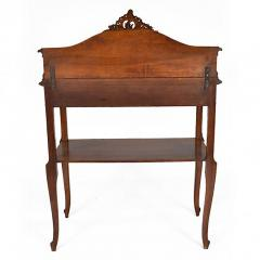 Antique French Louis XV Walnut Marble Top Server Buffet - 163200