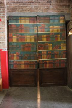 Antique French Secret Passage Way Double Doors - 1365006