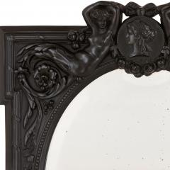Antique French ebony dressing table mirror - 1683153