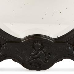 Antique French ebony dressing table mirror - 1683154