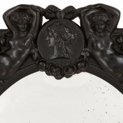 Antique French ebony dressing table mirror - 1683155