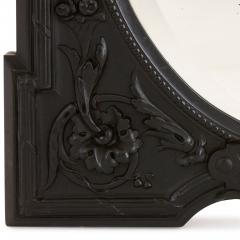 Antique French ebony dressing table mirror - 1683157