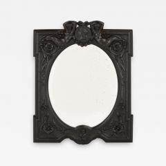 Antique French ebony dressing table mirror - 1685094