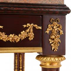 Antique French gilt bronze mounted mahogany side table - 1443590