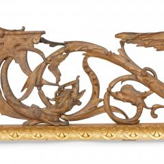 Antique French silvered and gilt bronze fireplace fender - 1577180