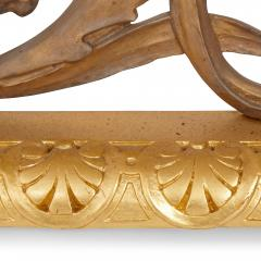 Antique French silvered and gilt bronze fireplace fender - 1577184
