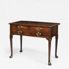Antique Georgian Mahogany Three Drawer Sidetable - 1188007