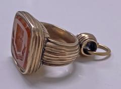 Antique Georgian rose Gold and Carnelian Seal Fob C 1820  - 2112830
