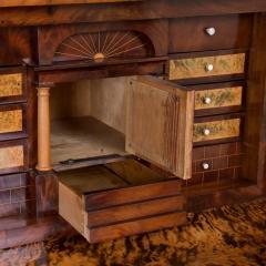 Antique German Mahogany Biedermeier Secretary Desk - 942959