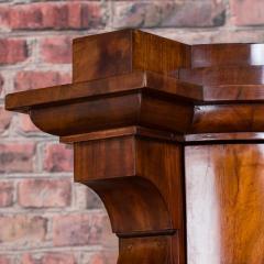 Antique German Mahogany Biedermeier Secretary Desk - 942960