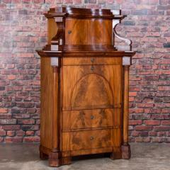 Antique German Mahogany Biedermeier Secretary Desk - 942961