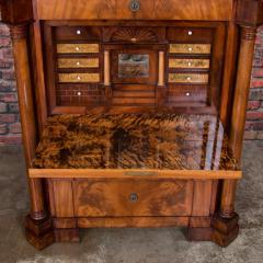 Antique German Mahogany Biedermeier Secretary Desk - 942962