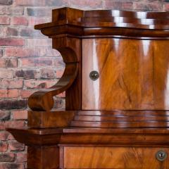 Antique German Mahogany Biedermeier Secretary Desk - 942963