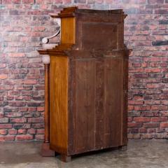 Antique German Mahogany Biedermeier Secretary Desk - 942964