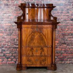 Antique German Mahogany Biedermeier Secretary Desk - 942965