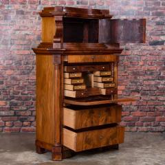 Antique German Mahogany Biedermeier Secretary Desk - 942967