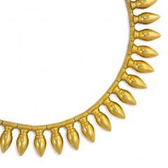 Antique Gold Amphora Fringe Necklace with Vatican Marks - 1172560