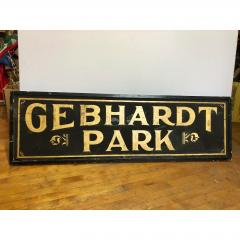 Antique Gold Leaf Sign Gebhardt Park  - 1370559