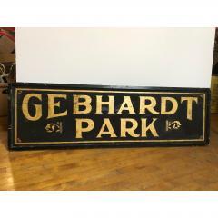 Antique Gold Leaf Sign Gebhardt Park  - 1370560