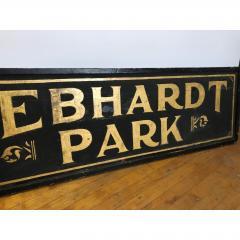 Antique Gold Leaf Sign Gebhardt Park  - 1370561