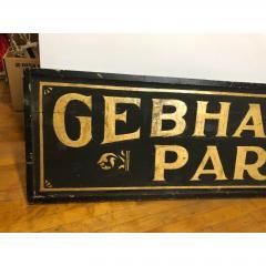 Antique Gold Leaf Sign Gebhardt Park  - 1370562