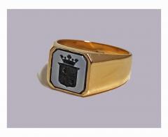 Antique Gold Sardonyx Ring C 1890 - 316575