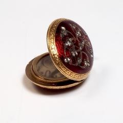 Antique Gold and Diamond Guilloche Enamel Locket - 1178483