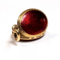Antique Gold and Diamond Guilloche Enamel Locket - 1178488
