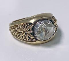 Antique Gold and Rose cut Diamond Ring C 1930 - 2071691