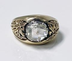 Antique Gold and Rose cut Diamond Ring C 1930 - 2071693