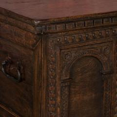 Antique Hand Carved German Baroque Trunk - 982141