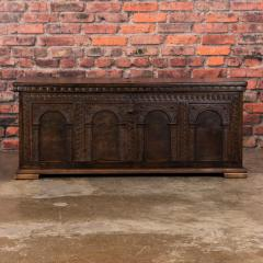Antique Hand Carved German Baroque Trunk - 982146