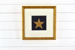 Antique Hand Sewn Star From Civil War 36 Star Flag - 1713864