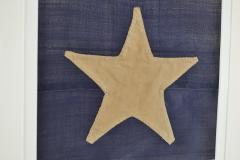 Antique Hand Sewn Star From Civil War 36 Star Flag - 1713865