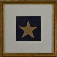 Antique Hand Sewn Star From Civil War 36 Star Flag - 1716386