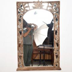 Antique Hand carved Wood Frame and Mirror Tommy Bahama - 1192449
