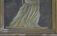 Antique Hand painted Water Color of Lady Liberty - 1713817
