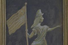 Antique Hand painted Water Color of Lady Liberty - 1713818