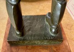 Antique Hungarian Bronze Sculpture by Kerenyi - 2076629