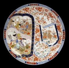 Antique Imari Porcelain Dish or Charger 24 in - 1102099