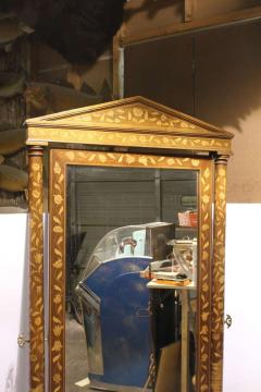 Antique Inlaid Wood Floor Mirror - 689346
