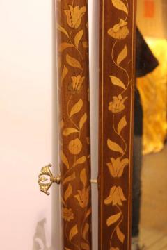 Antique Inlaid Wood Floor Mirror - 689347